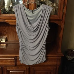 SILVER GRAY XL MAURICES SLEEVELESS TOP